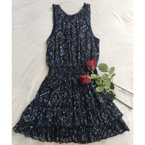 Forever 21 Multi Patterned Distress Dress